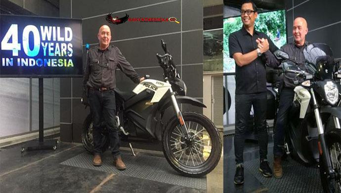 Dengan Motor Listrik Bule Prancis ini Akan Jelajahi Indonesia