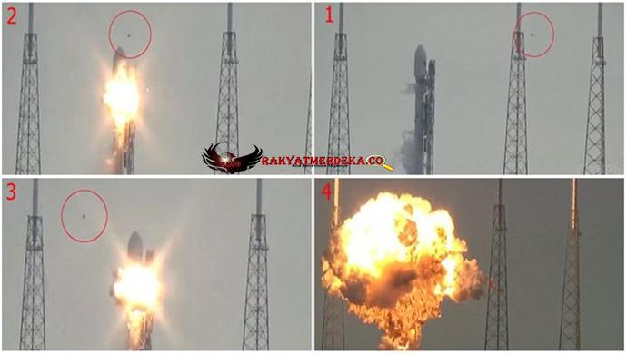 Ledakan Roket Pembawa Satelit Facebook Diakibatkan Ulah Alien