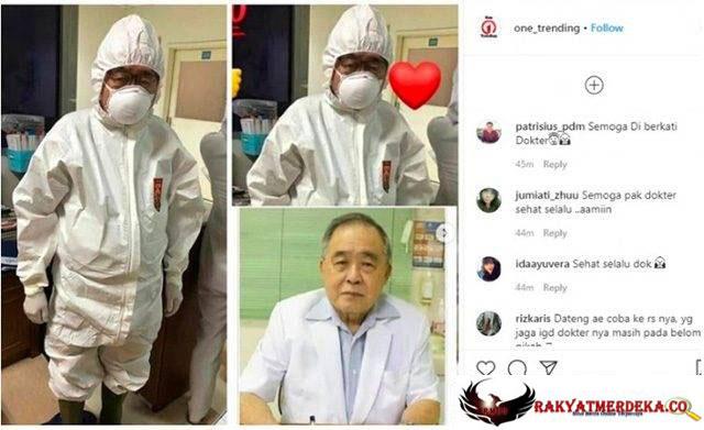 Dokter Usia 80 Tahun, Handoko Gunawan Ikut Tangani Pasien Corona