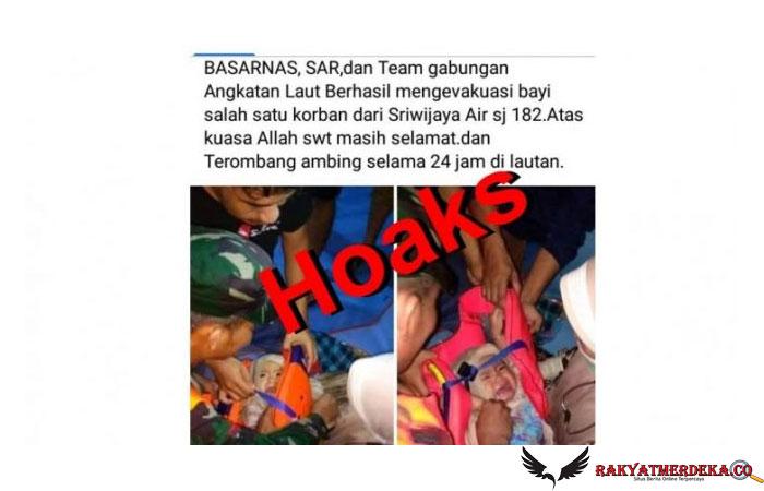 CEK FAKTA: Benarkah Foto Bayi Selamat dari Kecelakaan Sriwijaya Air?